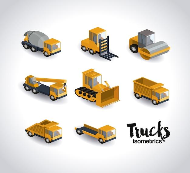 Conception isométrique de camions