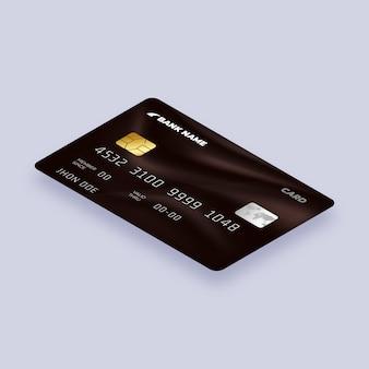 Conception isométrique de carte de crédit