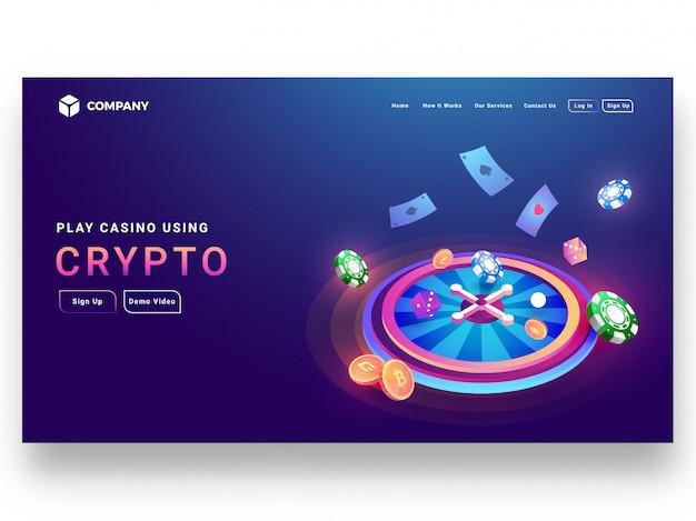 Conception isométrique de concept crypto casino