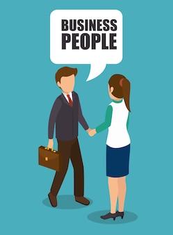 Conception isométrique des gens d'affaires