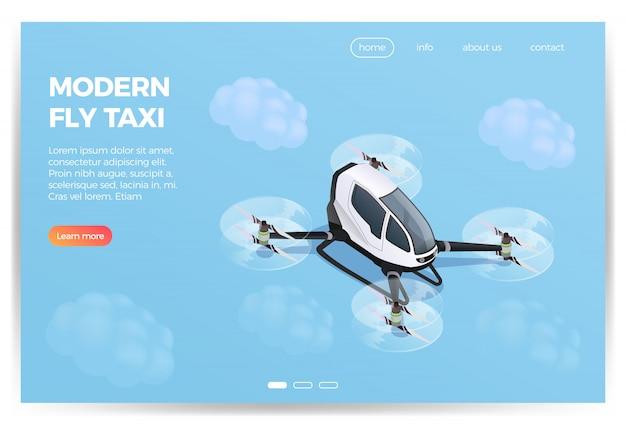 Conception isométrique de quadrocopter transport