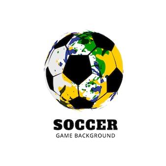 Conception de jeu de football brésil football