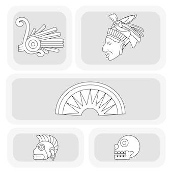 Conception de jeu d'icônes maya