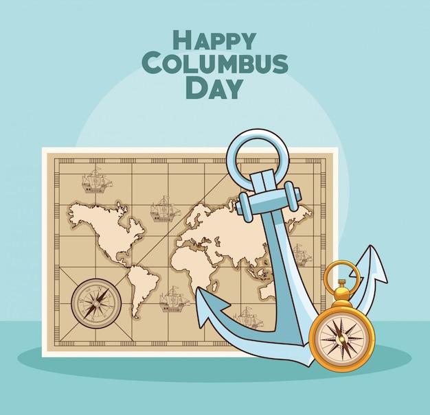 Conception de jour heureux columbus