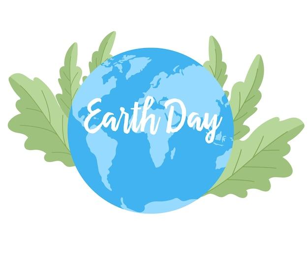 Conception de jour de terre de bannière web. concept de l'événement pour protéger la terre. protégez la conception de la terre.