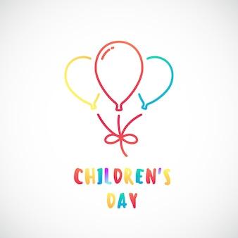 Conception de la journée des enfants heureux