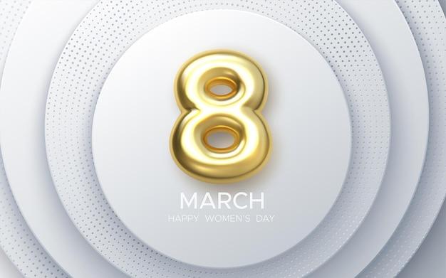Conception De La Journée De La Femme Du 8 Mars Vecteur Premium