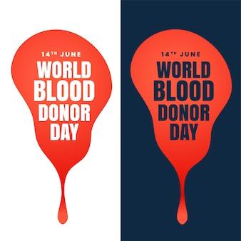 Conception de la journée mondiale du donneur de sang