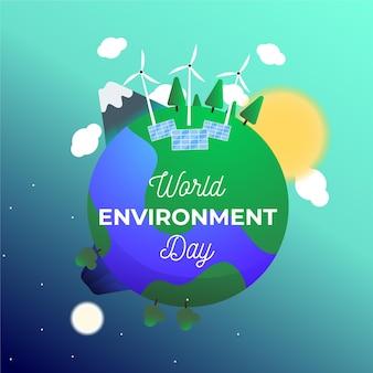 Conception de la journée mondiale de l'environnement