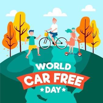 Conception de la journée mondiale sans voiture
