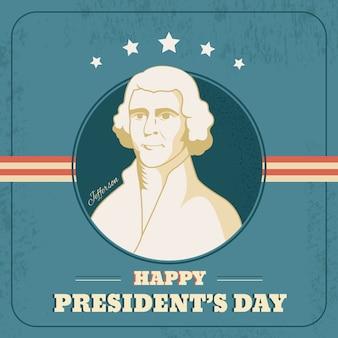 Conception de la journée des présidents vintage