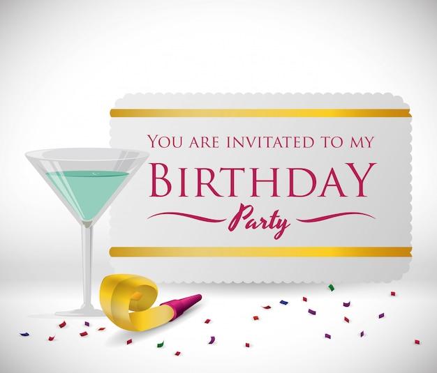 Conception joyeux anniversaire