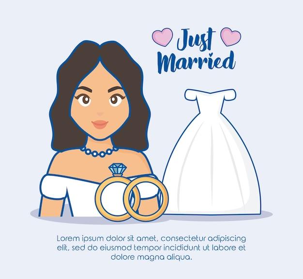 Conception juste mariée