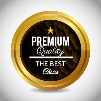 Conception de label de qualité premium.