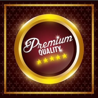 Conception de label de qualité premium.