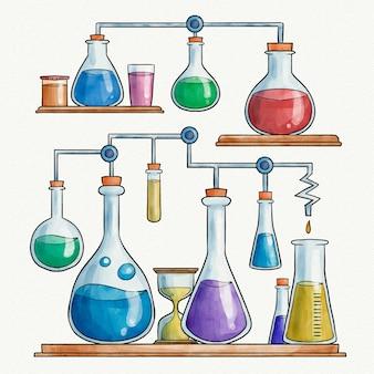 Conception de laboratoire de science aquarelle