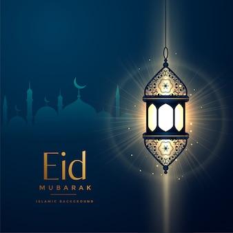 Conception de lanterne rougeoyante pour le festival eid