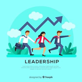 Conception de leadership dans un style plat