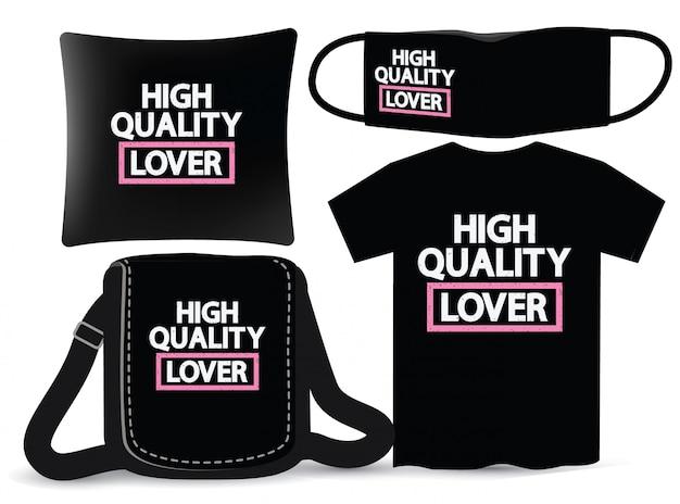 Conception de lettrage d'amant de haute qualité pour t-shirt et merchandising