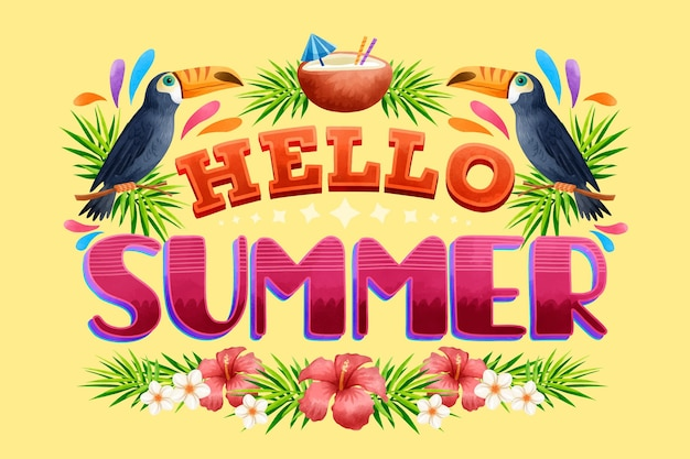 Conception de lettrage d'été