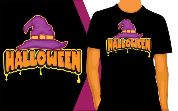 Conception de lettrage halloween pour t-shirt
