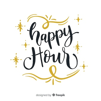 Conception de lettrage happy hour