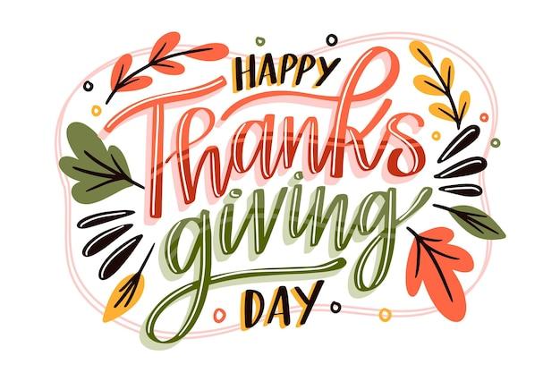 Conception de lettrage joyeux thanksgiving