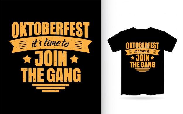 Conception de lettrage oktoberfest pour t-shirt