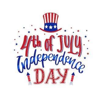 Conception de lettrage pour le jour de l'indépendance