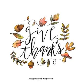 Conception de lettrage de thanksgiving