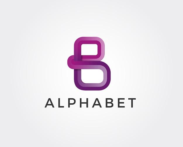 Conception de lettre b logo.b