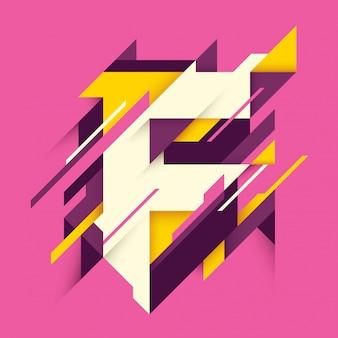 Conception de lettre f