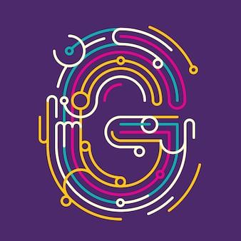 Conception de lettre g