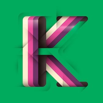 Conception de lettre k