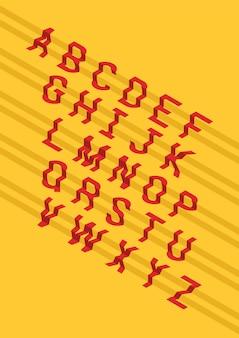 Conception de lettres de l'alphabet en escalier