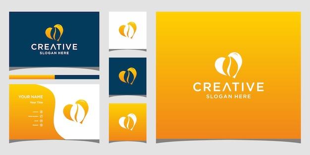 Conception de lèvres de logo avec modèle de carte de visite