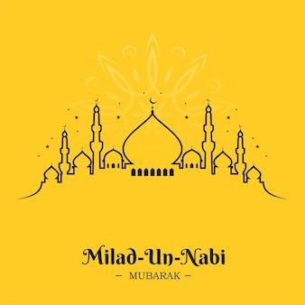 Conception de ligne de mosquée pour milad un nabi