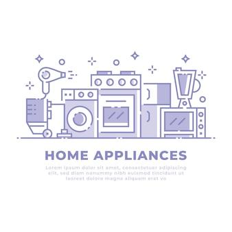 Conception linéaire d'appareils ménagers
