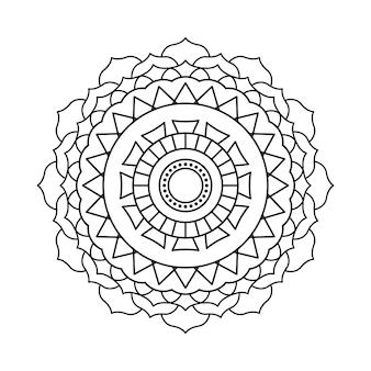 Conception linéaire de mandala de vecteur indien