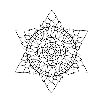 Conception linéaire de mandala de vecteur
