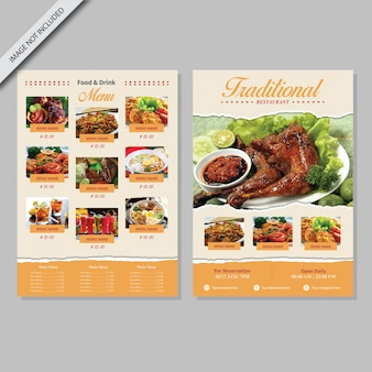 Conception de livre de menu