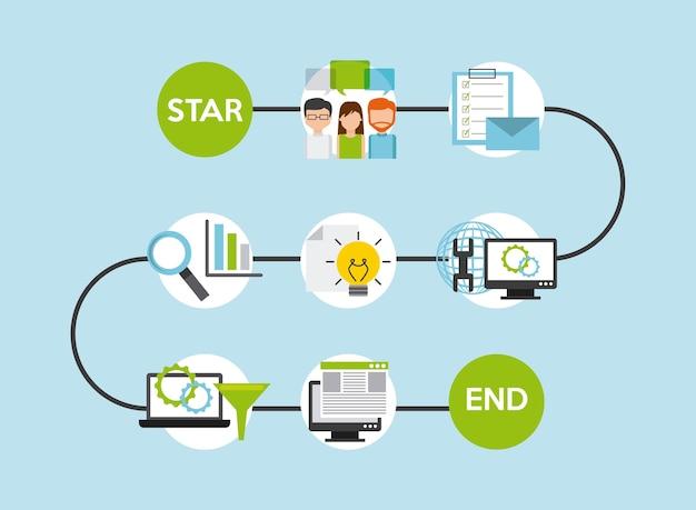 Conception de logiciels de programmation, illustration vectorielle eps10 graphique