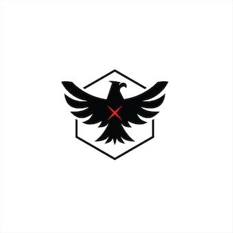 Conception de logo d'ailes d'aigle vecteur animal