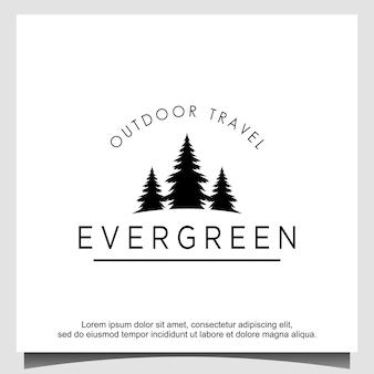 Conception de logo d'arbres de cèdre d'épinette de pins