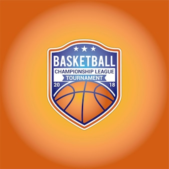 Conception de logo de basketball