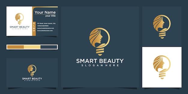 Conception de logo de beauté idée et carte de visite