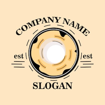 Conception de logo de beignet simple et moderne