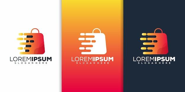 Conception de logo de boutique moderne