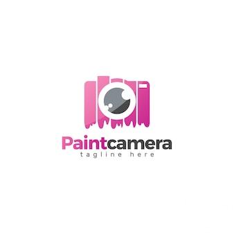 Conception de logo de caméra de peinture