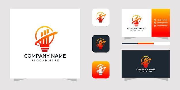 Conception de logo et carte de visite ampoule entreprise trafic